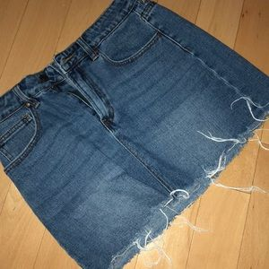 Blue jean mini skirt